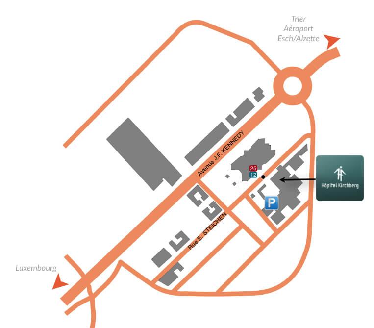 plan institut de la main luxembourg kirchberg